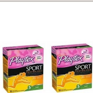 2 boxes of Playtex Super Tampons (16 per box)